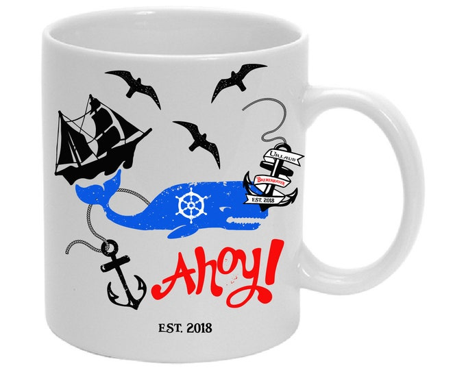Cup of AHOY!  With City and year
