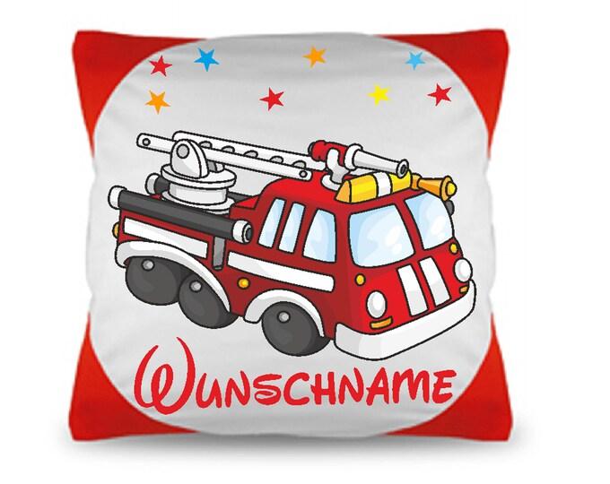 Children's Pillow Fire Brigade + Filling + Name