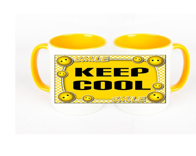"KEEP COOL ""Stay Cool"" Coffee Mug Mug"