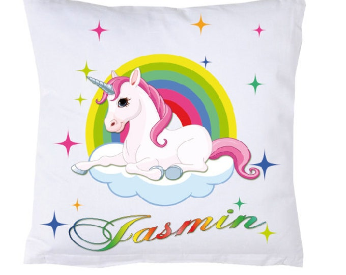 Name Pillow Rainbow Unicorn #1
