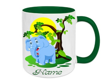 Mug named elephant animals