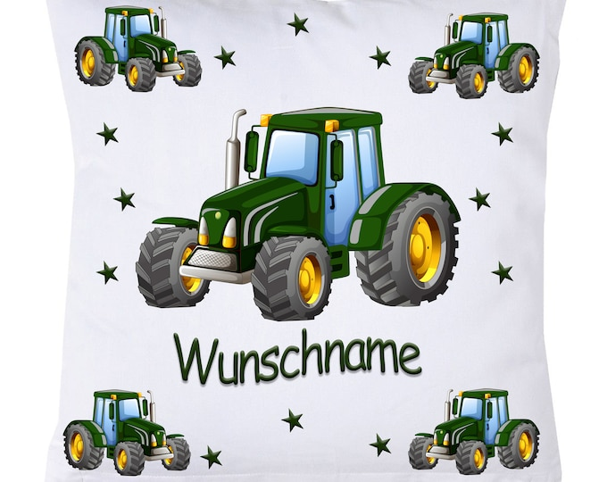 Cuddly Pillow Name Pillow Tractor Name Trekker Stars Farm