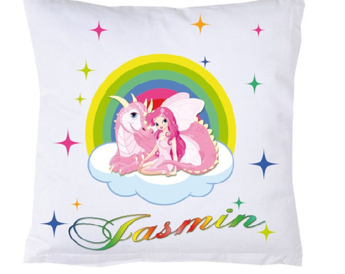 Name Pillow Rainbow Unicorn Fairy #1