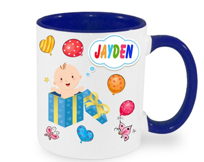Mug named baby birth with name & Data boy