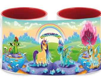 Mug named Unicorn Dragon Rainbow