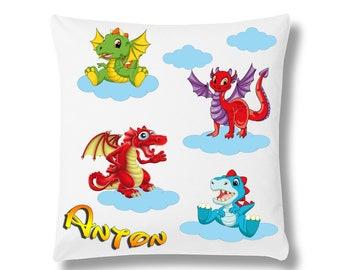 Children's pillows Dragon Monsters + Name