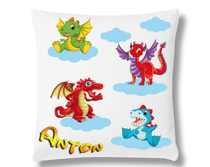 Children's pillows Dragon Monsters + Name
