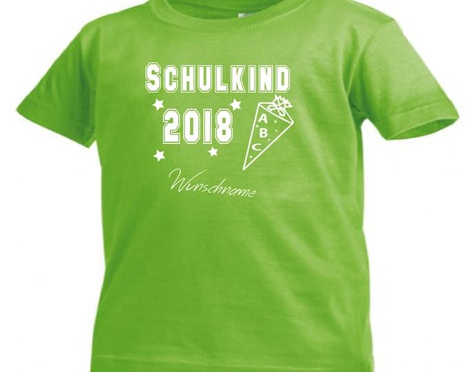 T-Shirt School child 2018 enrolment + wish name