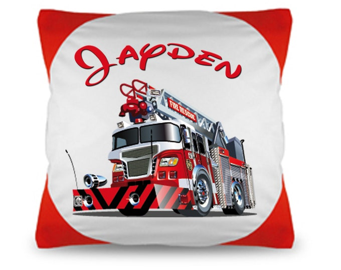 Cuddly Pillow named Pillow Fire Brigade wish name