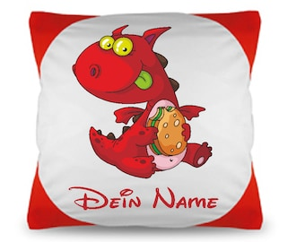 Cuddly pillow named Pillow Monsters + name + filling