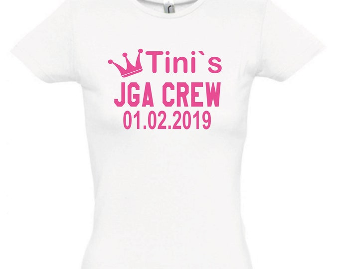 T-Shirt JGA stag party + data