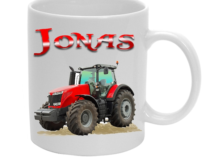 Cup Tractor + Name Trekker Red