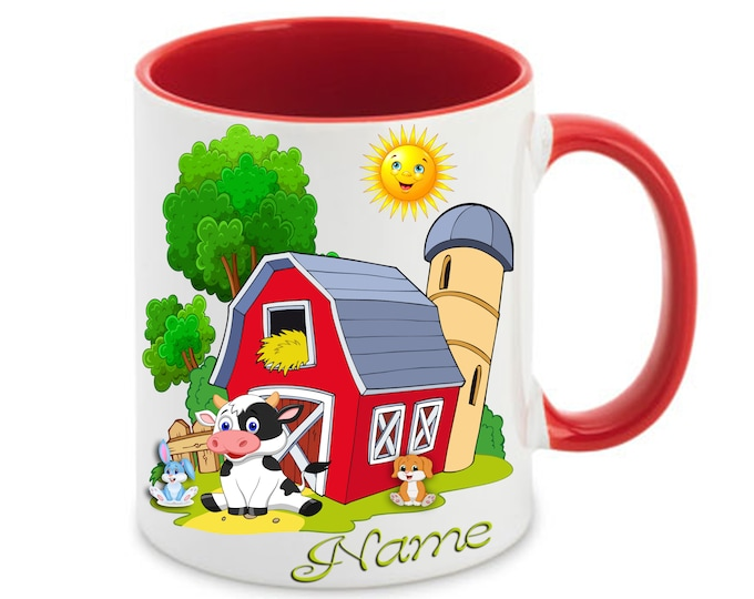 Mug called farm animals