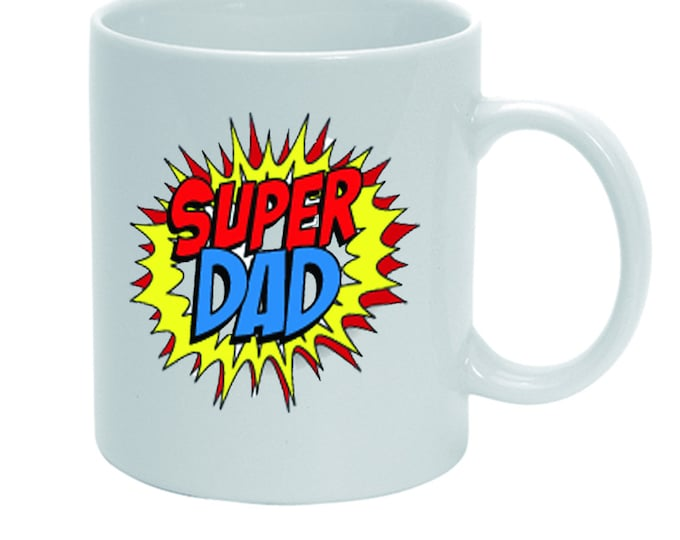Father's Day cup SuperDad teacup mug cocoa cup