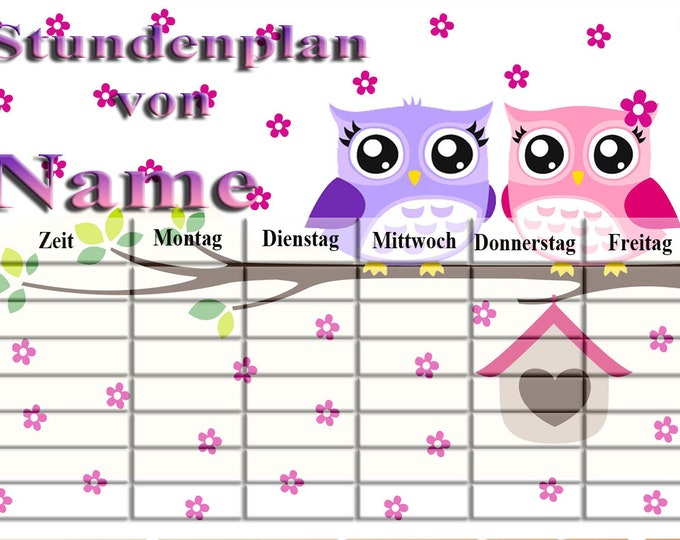 Schedule Unicorn pink wipeable A4