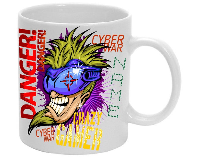 Mug named cyber-computer hacker-gamer