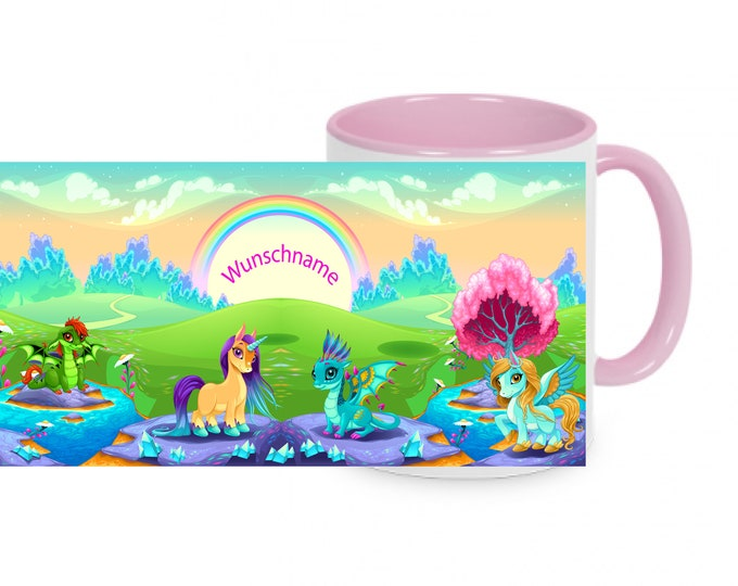 Unicorn cup with name birthday cup