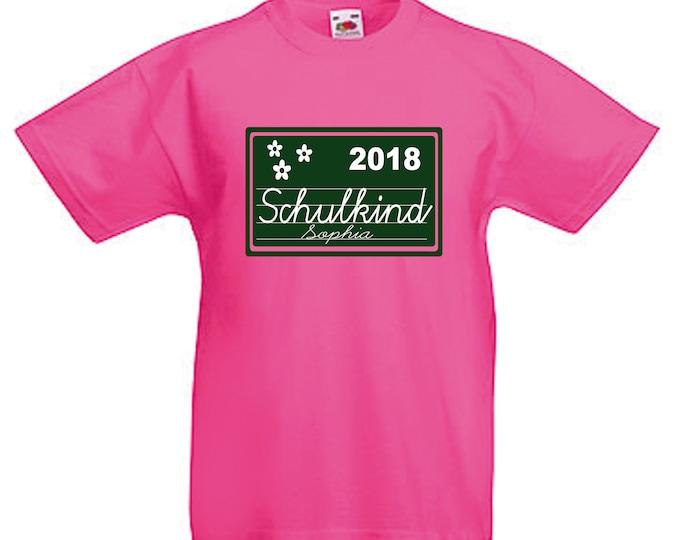 T-Shirt schoolchild 2019 schooling + wish name