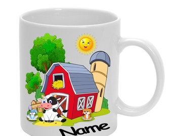 Plastic cup farm with name