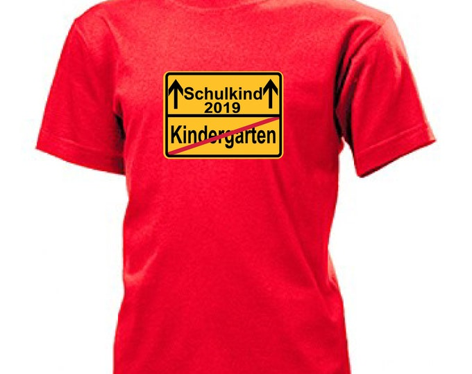 T-shirt schooling/start school schoolchild 2019