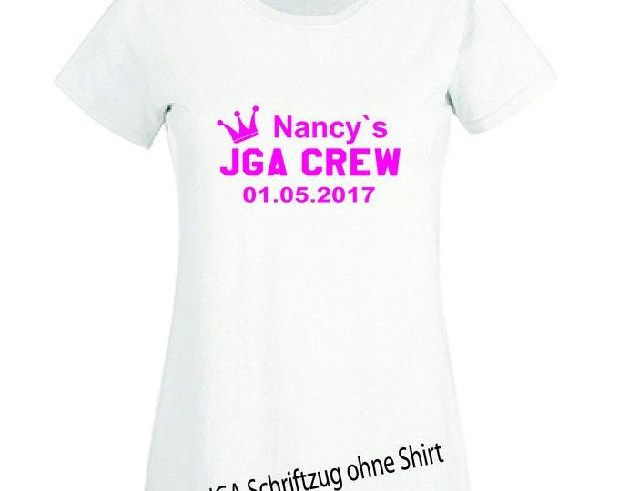 Ironing board young ladies farewell JGA info T-shirt