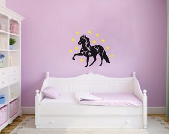 Horse with Stars Wall Decal Wall Sticker