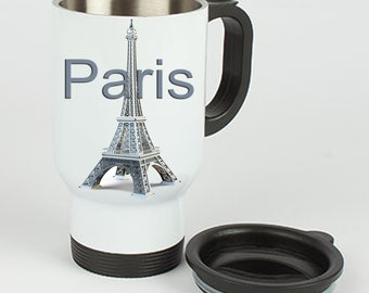 Stainless steel thermo Mug Paris Eiffel Tower