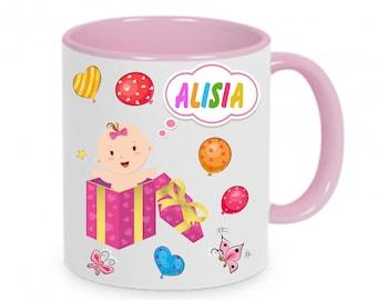 Mug named baby birth with name & Data girl