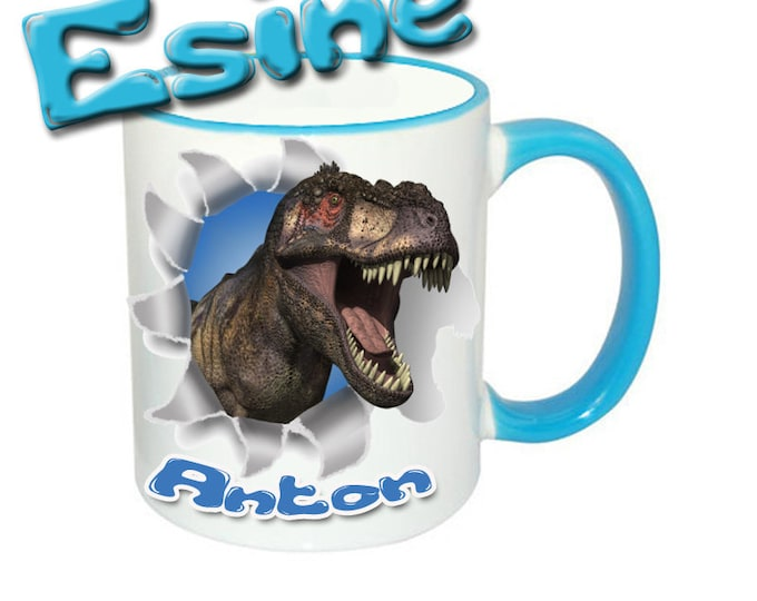 Mug named T-Rex Dinos + Name