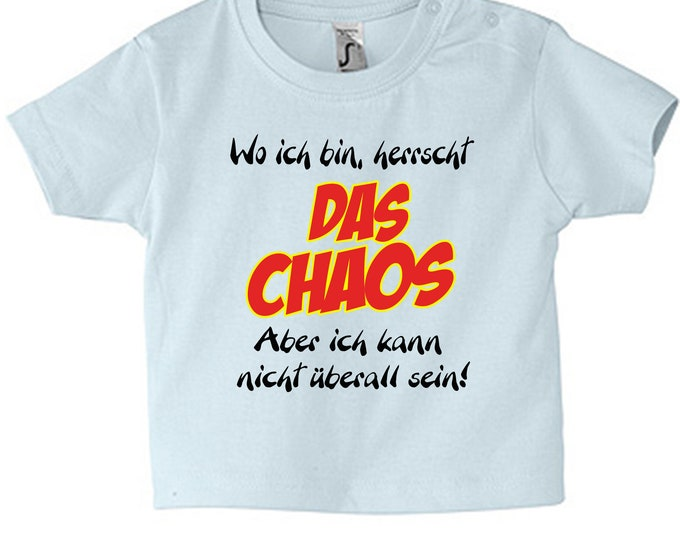 Baby T-shirt Saying The CHAOS 62 - 86