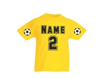 Kids T-shirt football jersey with data