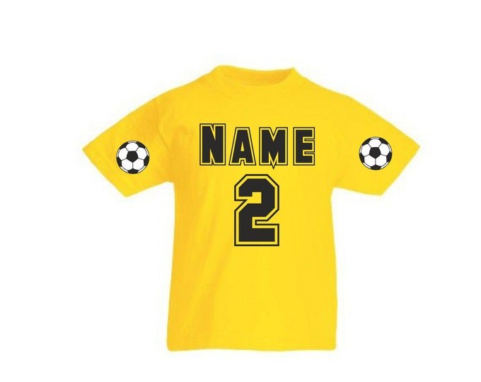 Kids T-shirt football jersey with data