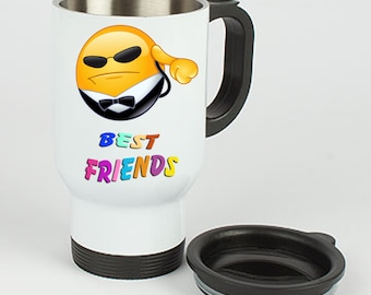Stainless Steel Thermo Mug Best friends