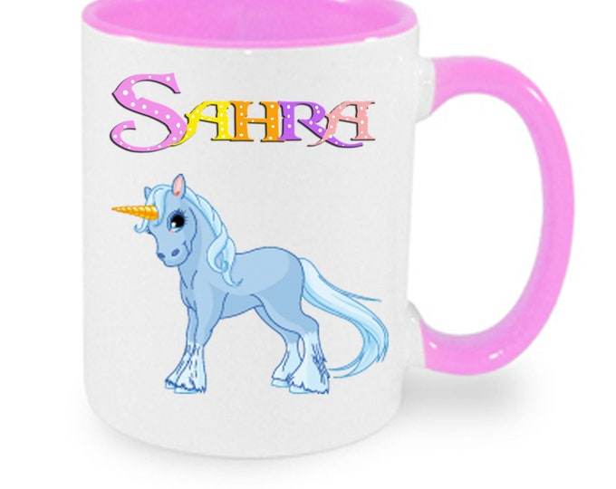 Cup with name unicorn colorful