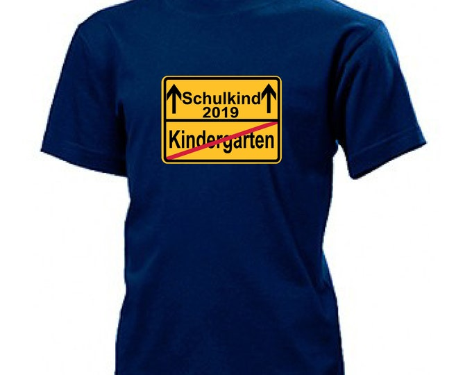 T-shirt schooling/start school schoolchild 2019