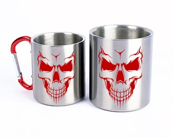 Stainless Steel Mug Skull