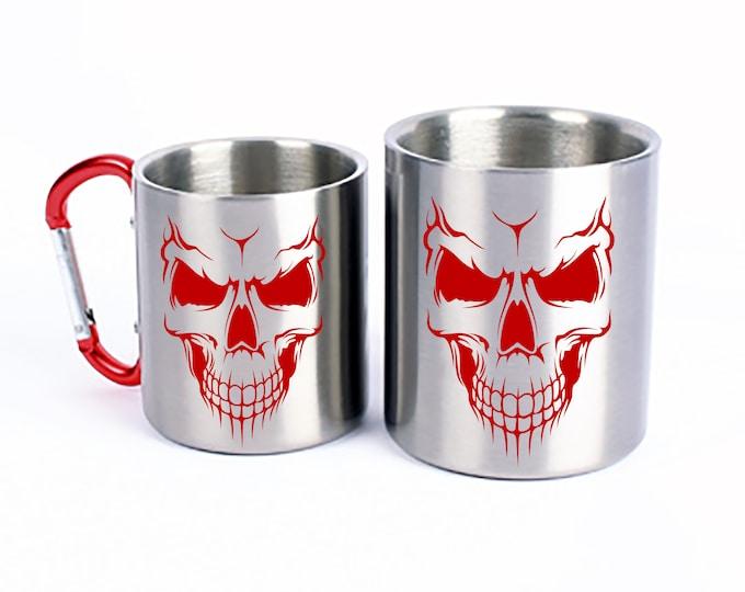 Stainless Steel Mug Skull