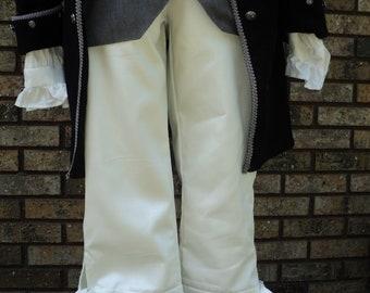 Men/'sunisex ColonialRevolutionary War White Cotton Muslin 5-tiered JabotAscot accessory--READY-TO-SHIP