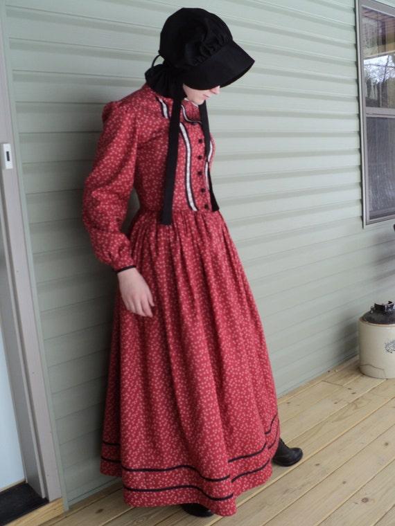 Pioneer Western Woman Bonnet Adult Costume