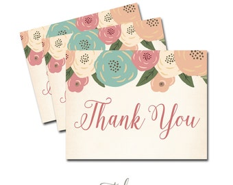 bridal shower thank you card printable thank you note printable bridal shower thank you instant download