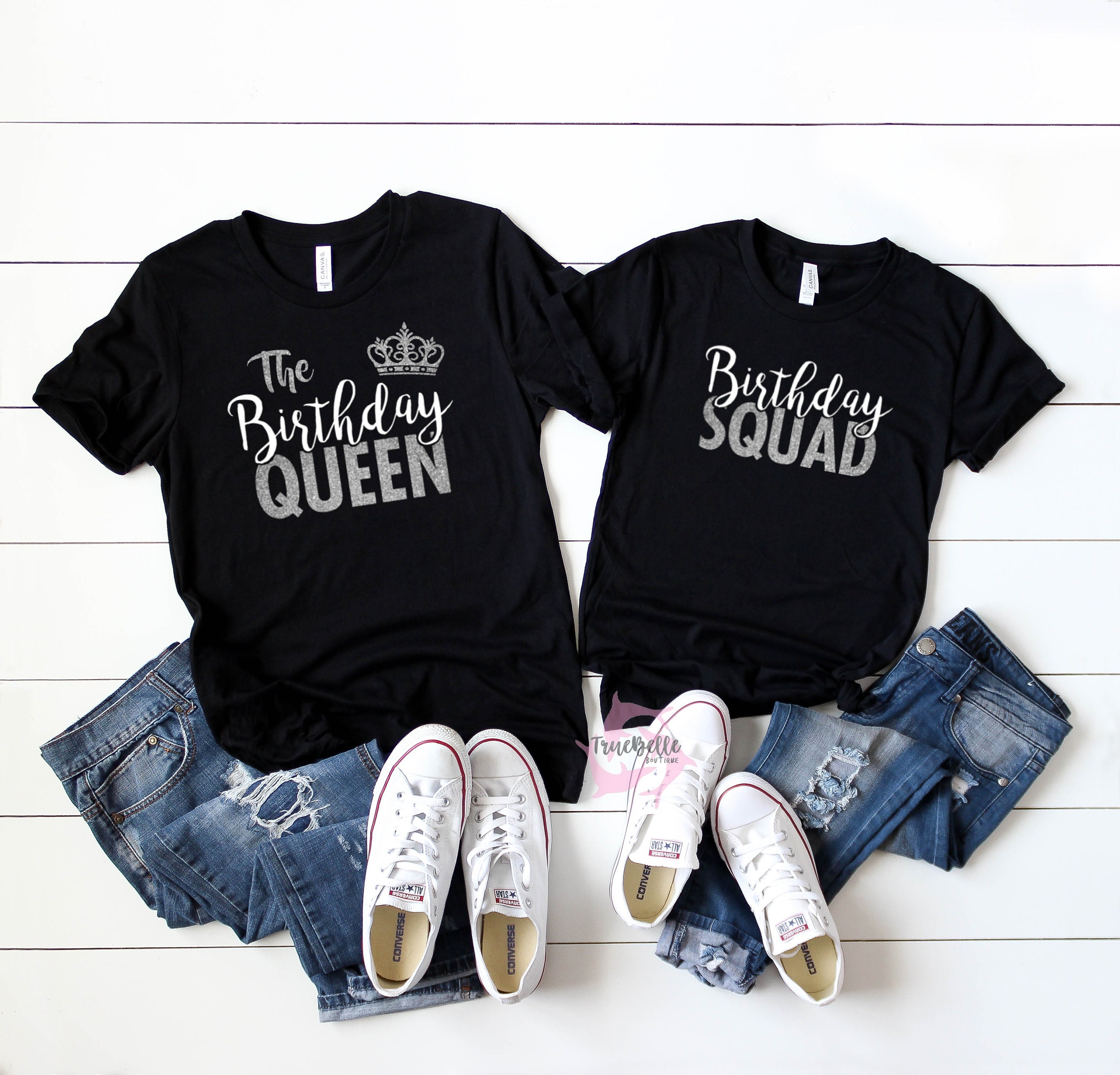Birthday Squad Shirts Queen Shirt Party Etsy Jpg 3000x2879 21st Group