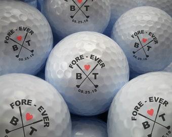 Custom Golf Ball Wedding Favor- Personalized Golf Balls- Bulk Pricing- Fore-Ever Printed Golf Balls- Golf Wedding Favor - Golf Tournament