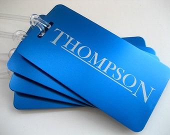 Luggage Tag Set of 4 - Engraved Luggage Tag - Personalized Luggage Tag- Travel Accessories - Travel Luggage Tag -