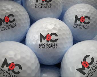 Custom Logo Golf Balls - Your Company Logo - Corporate Golf Ball Gift - Personalized Tournament Golf Ball - Bulk Price - Printed Golf Balls-