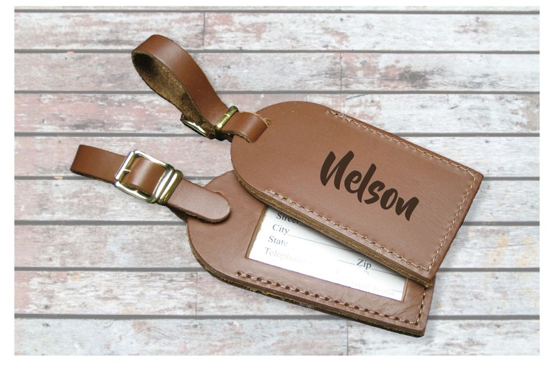 25c3f84b24dc Custom Handmade Leather Luggage Tag Set - Travel Luggage Tag - Pair - QUICK  SHIP - Personalized Engraved Luggage Tags - Fuel your Wanderlust