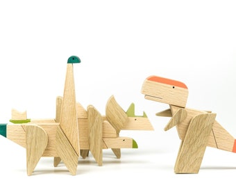 Game of dinosaurs, dinosaur wooden puzzle, magnet toys