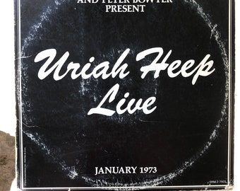 Uriah Heep Live January 1973 Bronze Records And Peter Etsy