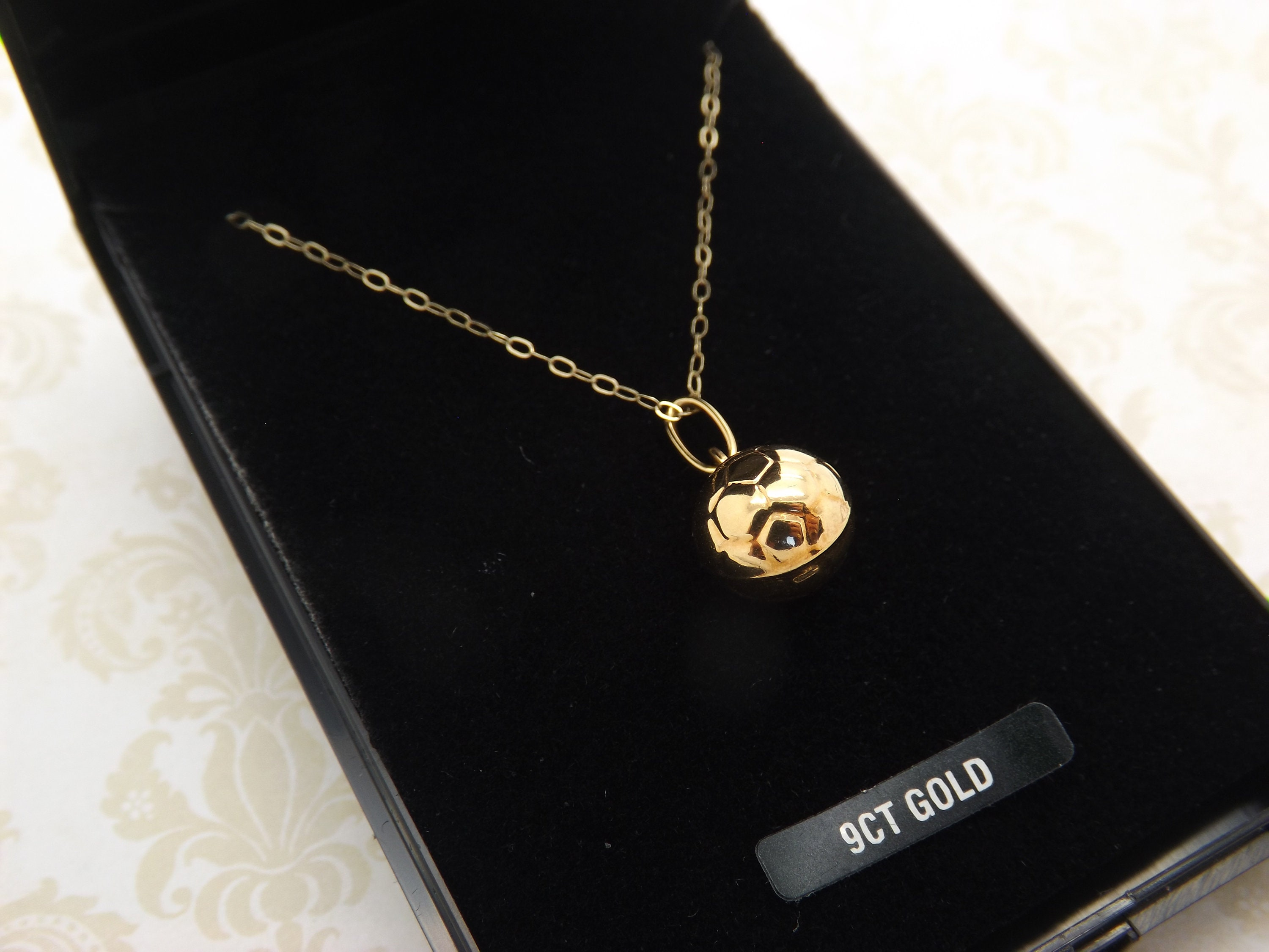 Real 375 9ct Rose Gold Engravable Heart Necklace 16-20 Inches Necklace