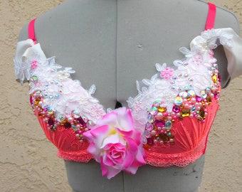 FLASH SALE Sleeping Beauty Princess Aurora Premade 32b Costume Rave Bra