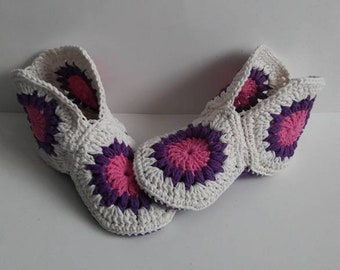 Adult slippers, women's slippers, crochet women's shoes, home shoes, women's shoes, women's fashion, women's boots, birthday gift for woman